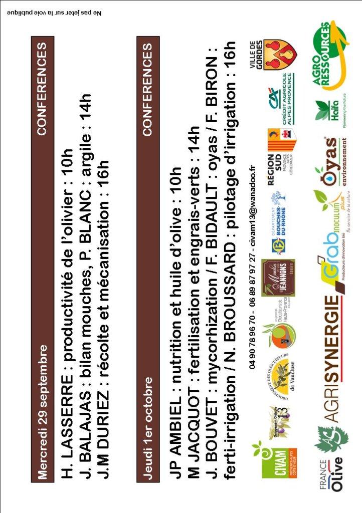 Programme conférences OLEATECH